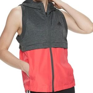 NWT Adidas Climalite Pink and Grey Athletic Vest